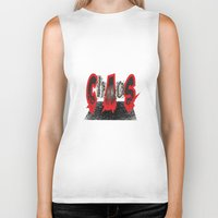 chaos Biker Tanks featuring Chaos by Rocky Rock