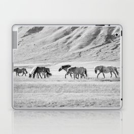 Horses in Iceland Photograph Laptop & iPad Skin