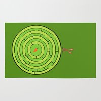 labyrinth Area & Throw Rugs featuring Labyrinth by KATUDESIGN