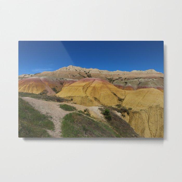 Colorful Badlands Landscape Metal Print