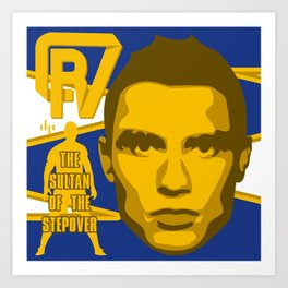 Christiano Ronaldo - The Sultan of the Stepover Art Print