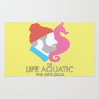 steve zissou Area & Throw Rugs featuring The Life Aquatic With Steve Zissou by John-Lewis Anderson