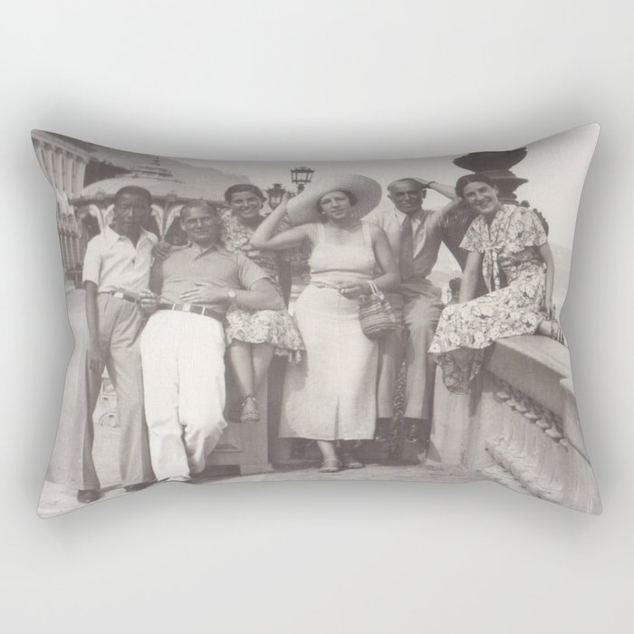 Vintage holiday photo in Cannes France Rectangular Pillow