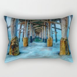 Long Exposure Under Newport Pier Rectangular Pillow