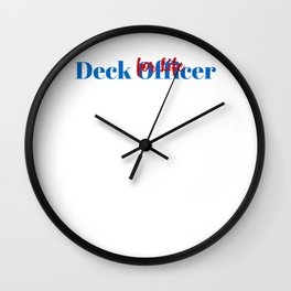 Deck Officer Position Wall Clock