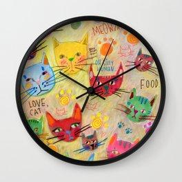 Meowza! Wall Clock