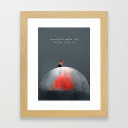 God knows. Framed Art Print