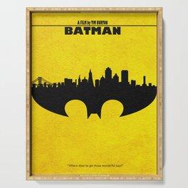 Bat Man Serving Tray