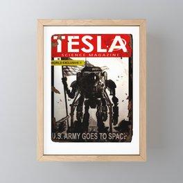 Fallout 76 Screenshot.Tesla magazine. Notebook Framed Mini Art Print