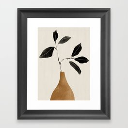 minimal plant 6 Framed Art Print