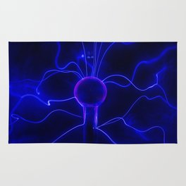 Blue Lightnings Rug