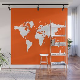 Vermillion Elegant World Wall Mural