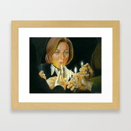 I just don't know which one of you will light my fire Framed Art Print