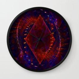 Sonic Flame Fractal Wall Clock