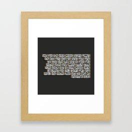 Kufi square Framed Art Print