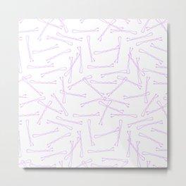 BOBBY PINS ((lilac)) Metal Print