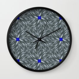 Making Waves Gray Wall Clock
