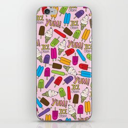 Ice Cream Doodles iPhone Skin