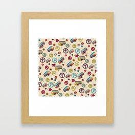 Retro  Hippie  Pattern 2 Framed Art Print
