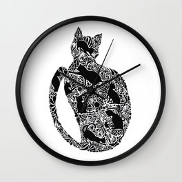Dedicated for the cat slave 獻給貓奴的貓圖 Wall Clock