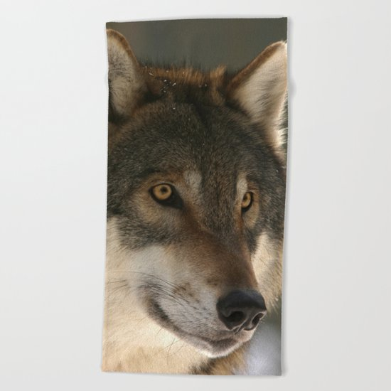 Lone Wolf Beach Towel