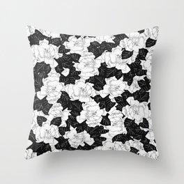 Gardenias Throw Pillow