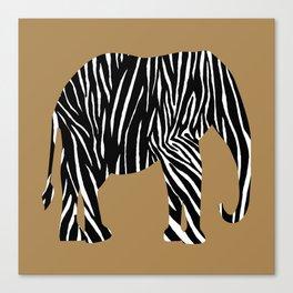 Zebra Elephant Safari Canvas Print