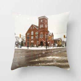 Town Hall Throw Pillow