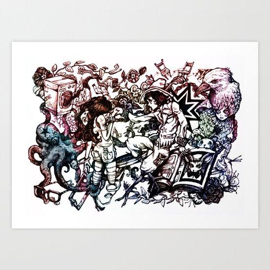Domestic Parade Art Print