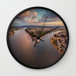 Koblenz aerial shot Wall Clock