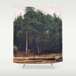 Sad timber industry Shower Curtain