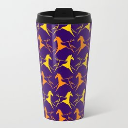 Horse Nation Purple Gold Travel Mug