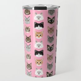 Cute Cat breed faces smiling kitten must have gifts for cat lady cat man cat lover unique pets Travel Mug