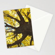 yellow fall  Stationery Cards