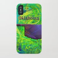 oklahoma iPhone & iPod Cases featuring Oklahoma Map by Roger Wedegis