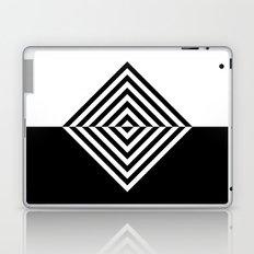 Black and White Concentric Diamonds Laptop & iPad Skin