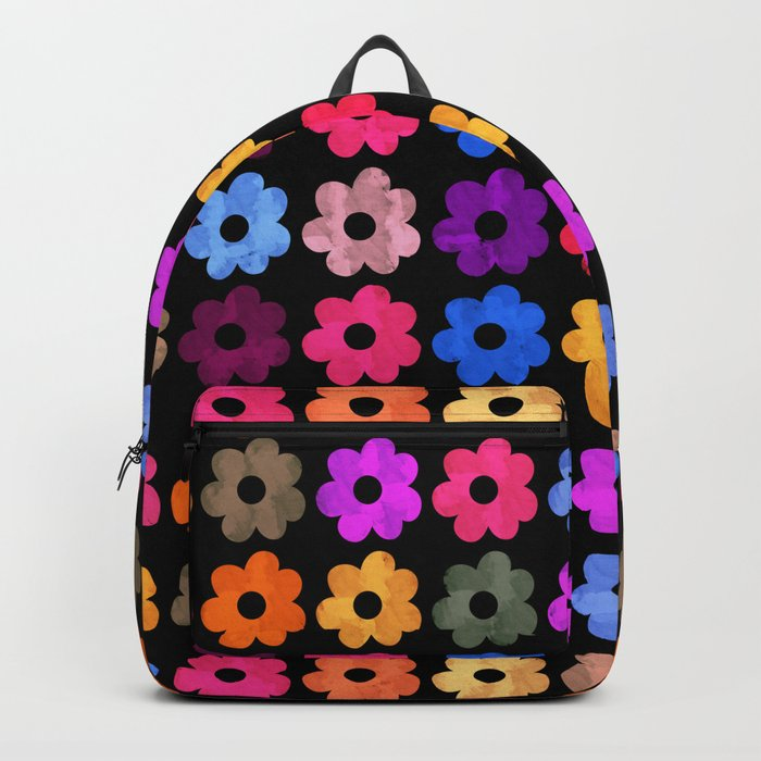 Colorful Floral Pattern III Backpack