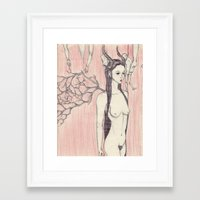 sandra dieckmann Framed Art Prints featuring Sandra  by nathan