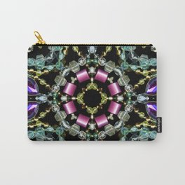 Bling Jewel Kaleidoscope Scanography Carry-All Pouch