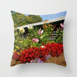 Flower Corner Throw Pillow
