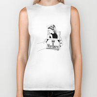 smoke Biker Tanks featuring Smoke by Henn Kim
