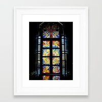 stained glass Framed Art Prints featuring Stained Glass by Sean Foreman