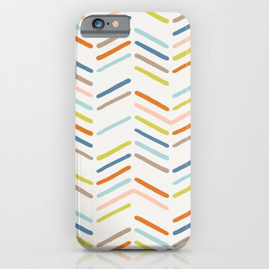 Mixed Herringbone - in Burnt Orange iPhone & iPod Case