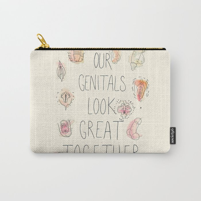 Happy Genitals Carry-All Pouch
