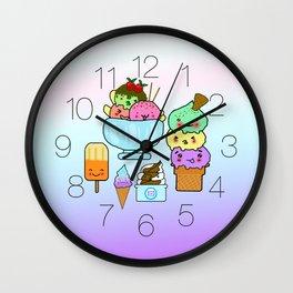 Summer Ice Cream Wall Clock