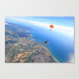 Sky Dive Canvas Print