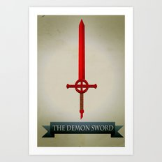 Demon Sword Art Print