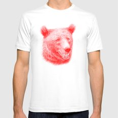Brown bear is red and pink MEDIUM White Mens Fitted Tee