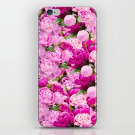 Pink Peony Party iPhone Skin