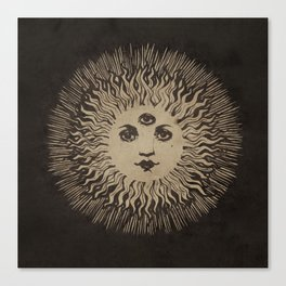 Three Eyed Sun Canvas Print